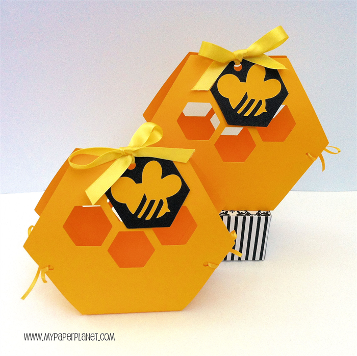 Beehive Honeycomb Bee Gift Boxes Baby Shower Birthday Party Bag Favours