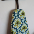 Ironing Board Cover - French Wallpaper in Spruce - Amy Butler