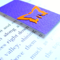 Magnetic bookmark (small) - purple orange butterfly
