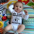 MY DADDY SHOOTS PEOPLE, Camera Baby Onesie, One Piece, Romper Suit