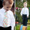 Necktie Pattern. PDF Sewing Pattern for Little Lads' Necktie, Skinny & Wide Ties