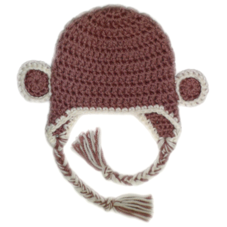 little monkey earflap beanie hat