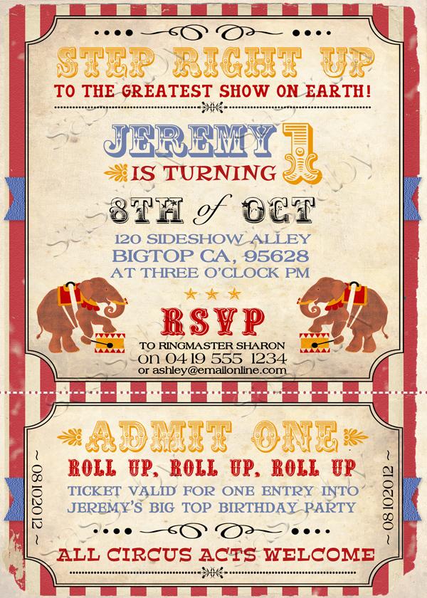 Vintage Circus Invitat...