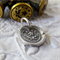 Flower Wax Seal Petite Pendant - Forget Me Not  - Remembrance Jewellery