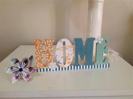 Handmade Decorative Stand Up Word - Home