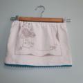 Toddler Skirt. Embroidered Vintage Linen Skirt. Size 1-2 Years. White Skirt.