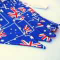 Australian Flag Fabric Bunting (Red, Blue, White)