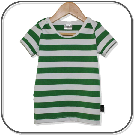 SIZE 3 Boys Green Stripe Lap Tee