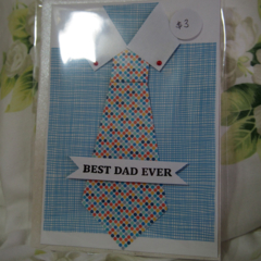 Best Dad Ever Handmade Card
