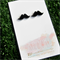 Buy 3 get 4th FREE Black Perspex Moustache Earrings
