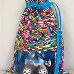 Drawstring Kinder/School Bag with window