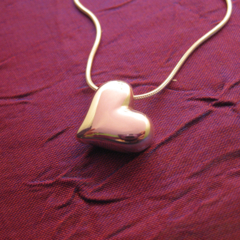 Heart - Handmade Sterling Silver Pendant with Snake Chain