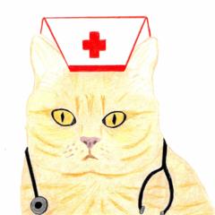 Get Well Card - Ginger Cat Nurse