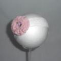 Crochet Ruffle Flower Headband - 0-3mths