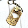 Pet Memorial Necklace Sterling Silver Dog Tag Pet Animal Lover Gift Missed Pet