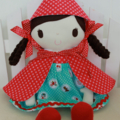 Ruby & Belle  -  Handmade  Little Red Riding Hood Doll - new style coming soon