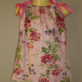 Size 1 girls dress - pink flowers, Spring, Summer, great gift
