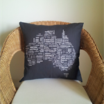 Black and White Australia Cushion