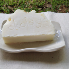 Handcrafted Soap and White Rectangle Ceramic Soap Dish