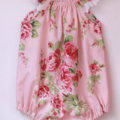 Barefoot roses Seaside playsuit size 000,00,0,1,2 / summer/ pink/