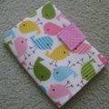 Crayon and Notepad Holder - Spring Birds - Girl - Gift