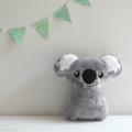 Baby Koala Rattle Grey and White