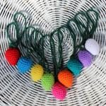 amigurumi crochet fairy lights garland