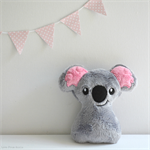 Baby Koala Rattle Grey and Pink