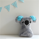 Baby Koala Rattle Grey and Blue