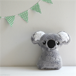 Baby Koala Rattle Grey and White