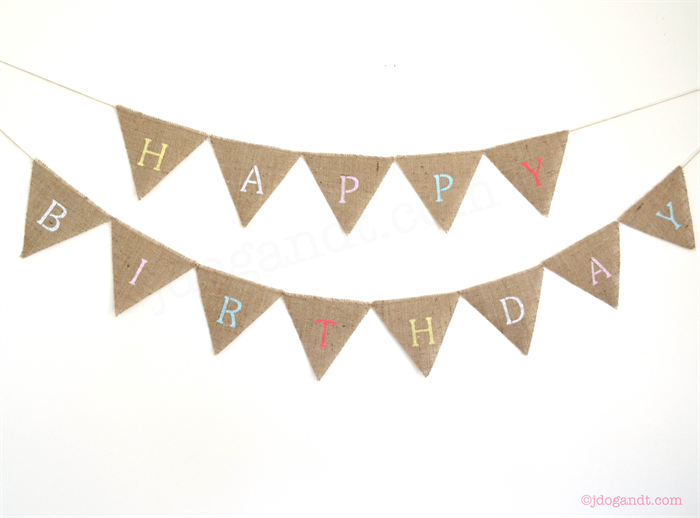 PERSONALISED BUNTING CUSTOM BANNER BOHO HESSIAN BURLAP RUSTIC WEDDING BIRTHDAY