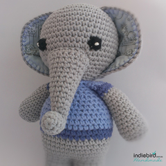 Personalised Crochet Elephant Boy Toy