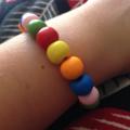 Multicoloured Wooden Bead Bracelet