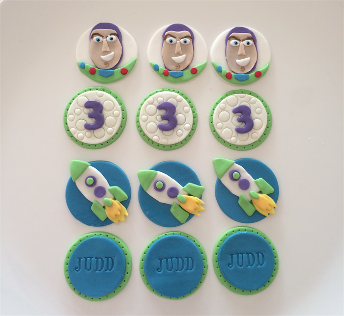 Buzz Lightyear Theme Cupcake Toppers