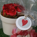 12 Valentine's Day Tags ~ Red Heart Gift Tags ~ Flower Tags ~ Chocolate Tags