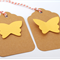 Gift Tags 10 pack - Yellow Butterflies on Kraft Tags