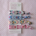 Aztec Tribal Print Elastic Ponytail Holders - Hair Ties