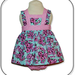 SIZE 00 Baby Girls Cotton Boo Pinafore SET