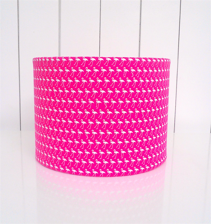 Pink and white flamingo fabric lampshade - small shade  a895c72f3