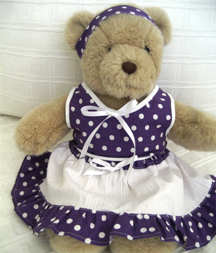 e533808a Teddy Bear Clothes, Handmade Martine Skirt, Top & Headband | Piper ...