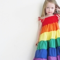 Rainbow dress - Girls rainbow twirl dress - Party dress- Sizes 1-5 yrs & 4-8 yrs