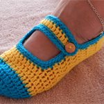 Crochet Mary-Jane Slippers