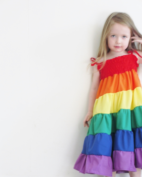 Rainbow dress - Girls rainbow twirl dress - Party dress- Sizes 1-5 ...