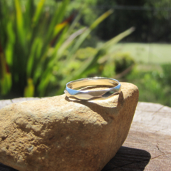 Sterling Geometric Faceted Ring