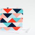Fabric Greeting Card - geometric triangles