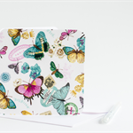 Fabric Greeting Card - vintage butterflies