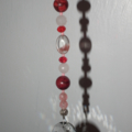 Crystal SALE.. red Gemstone Sun Catcher Cherry Phantom Rose Quartz Howlite