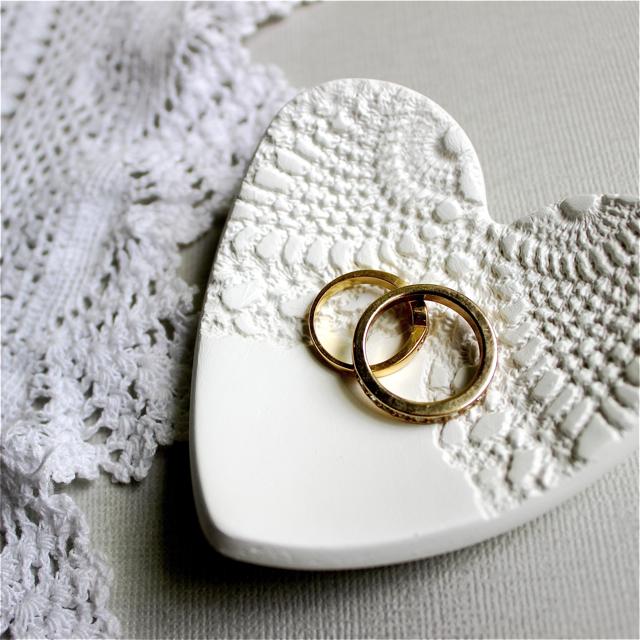 Angel Love Wedding Ring Dish Ring Pillow Alternative Doily