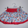 BOO! Twirly Skirt - Size 2 - Dr Seuss with Red and White Polka Dots