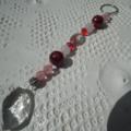 Crystal SALE.. red Gemstone Sun Catcher Cherry Phantom Rose Quartz Howlite